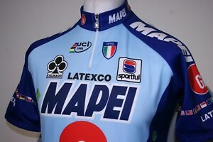Sportful - Mapei Colnago Latexco - Cycling Jersey Shirt -L- Rare 90s Bike Top