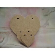Hearts 150mm 2 hole Bunting style 6mm thick