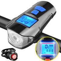T6 USB LED Fahrradlampe Odometer Fahrradlicht Fahrradbeleuchtung Scheinwerfer DE
