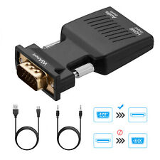 Vga To Hdmi Adapter Full Hd 1080P Audio Video Converter Laptop Pc To Av Tv Hdtv