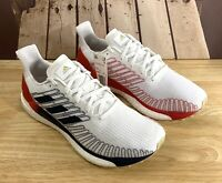 New Adidas Solar Boost 19 Running Shoes Red White Blue EG2362 Men's Size 8.5