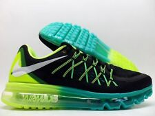 NIKE AIR MAX 2015 SHOES RUNNING BLACK/WHITE-VOLT-JADE 698902-003 Sz 12