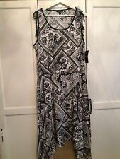 Ralph Lauren Dress Black & White Uk Medium New With Tags