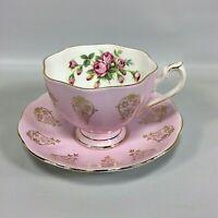 Pink Tea Tea Cup and Saucer Queen Anne England