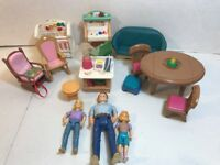 Lot Of Fisher Price Loving Family Dollhouse Furniture