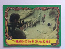 Indiana Jones Raiders Of The Lost Ark Topps 1981 Card 78 Threatened By Jones