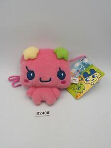 "Tamagotchi B2408 Violetchi Flowertchi Sling Zipper Bag 4"" Banpresto 2006 Plush"