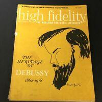 VTG High Fidelity Music Magazine September 1962 - Claude Debussy 1862-1918