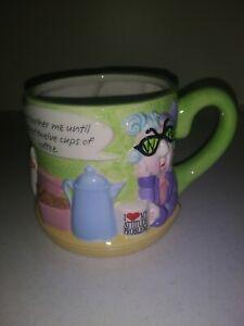 Vintage Hallmark Old Maxine Lady Big Funny Morning Coffee Mug Cup Planter Bowl
