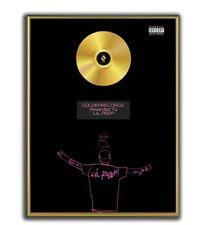 Lil Peep Poster, Teen Romance GOLD/PLATINIUM CD, gerahmtes Poster HipHop Rap
