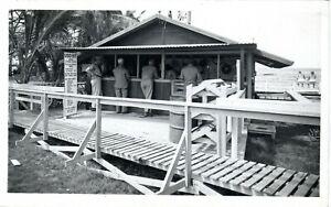 1945 HILO HI - RPPC - Rare WWII U.S.O. Snack Bar Hut - Palm Island - Real Photo