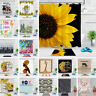 Sunflower Shower Curtain Sets & Hooks African Women Cactus Cow Bathroom Decor