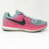 Nike Womens Air Zoom Pegasus 34 880560-406 Blue Pink Running Shoes Lace Up Sz 8