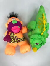 Puffalump Fisher Price Grunts 'Boulder' Caveman & Triceratops Green Dino Roars