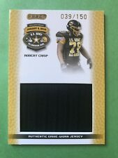 Robert Crisp games used patch 2010 Army All American #39/150 NC State Wolfpack