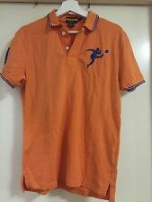 Ralph Lauren Rugby Orange Polo Shirt Mens Size S