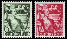 EBS Germany 1938 5th Anniversary Hitler Coming To Power Michel 660-661 MH*