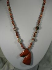 "20"" Red Jasper Bead Necklace"