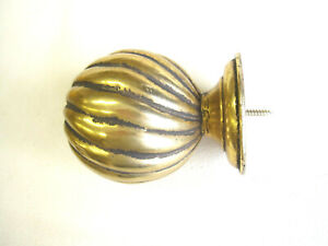 Gold Gilt Pole Finial fits 2 inch poles  Antique Swirl Ball End end 10.5cm