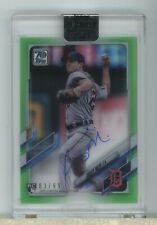 Casey Mize RC AUTO 2021 Clearly Authentic 83/99 Green Border Detroit Tigers