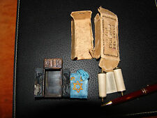 jewish judaica jerusalem vintage  miniature sefer torah scroll