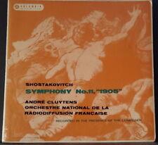 COLUMBIA 33CX 1604/5 UK PRESS SHOSTAKOVICH SYMPHONY 11 CLUYTENS ONRF 1958 VINYL