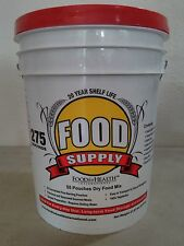 275 Servings 30Day Food Storage Emergency Supply Bucket Rations Kit Survival mre