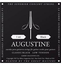 Jeu de cordes guitare classique - Augustine Standard Noir Tirant faible