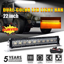 3Row Strobe 22inch 1250W Curved LED Light Bar Combo Offroad SUV Driving Fog Lamp
