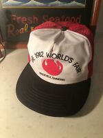 Vintage 1982 The Worlds Fair Knoxville Tennessee Trucker Snapback Hat USA
