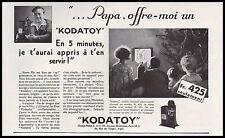 Publicité KODATOY  projecteur cinema film vintage print ad  1931 - 10h