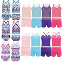 Girls Two Piece Printed Bikini Set Swimwear Kids Swimsuit Bathing Suit Beachwear
