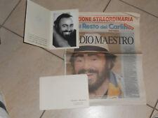 LUCIANO PAVAROTTI RICORDO DEL MAESTRO (ORIGINALE) +ED.SPECIALE RESTO DEL CARLINO
