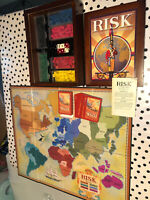 Parker Brothers RISK Vintage Game Collection Wooden Bookshelf Box 2009 Complete