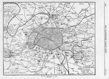 1870 FRANCO GERMAN WAR MILITARY FORTIFICATIONS OF PARIS MAP City Plan (100)