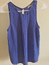 Forever 21 Women's Sleeveless Blue/White Geometric Pattern Top Blouse Size S