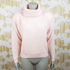 VTG Knit Deville NWT Deadstock Lambswool  Large Blush Pink Turtleneck Sweater