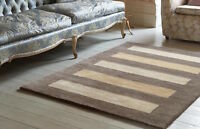 BROWN BEIGE HIGH QUALITY Modern Contemporary Handmade ANTIQUE Wool Rug 50%OFF