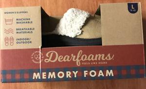 Women's Dearfoams Slippers L 9-10 Women's slippers memory foam New In Box