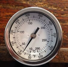 Pig Cooker Smoker BBQ Grill Thermometer Stainless 2 1/2  Inch Long Stem 50-550