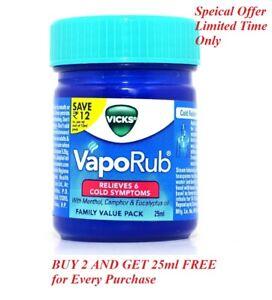 Vicks Vaporub Ointment Vaporize Block Nose Cough Nasal Congestion Headache 50ml