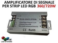 AMPLIFICATORE SEGNALE RGB 12V 360W 24V 720W 3 CANALI 30A  STRISCIA LED STRIP