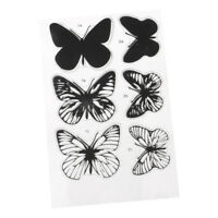 Butterfly Silicone Clear Rubber Stamps Sheet Cling DIY Scrapbook Card Decor