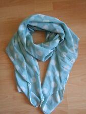 Becksöndergaard Schal Tuch scarf blue polka dot XL cotton
