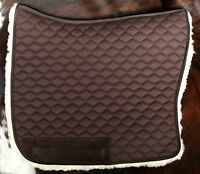 Barock Schabracke, Satteldecke, 100% echt Lammfell, Stepp in braun oder schwarz
