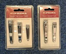 3pc + 2pc  Nail Clippers Cutters Stainless Steel Toe Trimmer Manicure Big Small