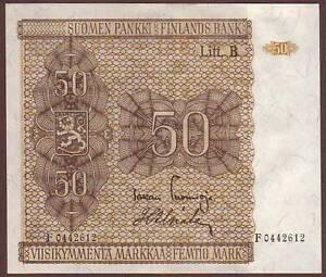 Finland  50 Markkaa  1945  Litt.B   UNC