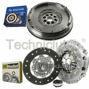 LUK 3 PART CLUTCH KIT AND SACHS DMF FOR PEUGEOT 307 SW ESTATE 2.0 HDI 135
