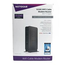 Netgear N300 Wi-Fi DOCSIS 3.0 Cable Modem Router C3000 340Mbps