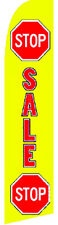 STOP SALE Car Dealer Auto Lot Swooper Banner Feather Flutter Curved Top Flag